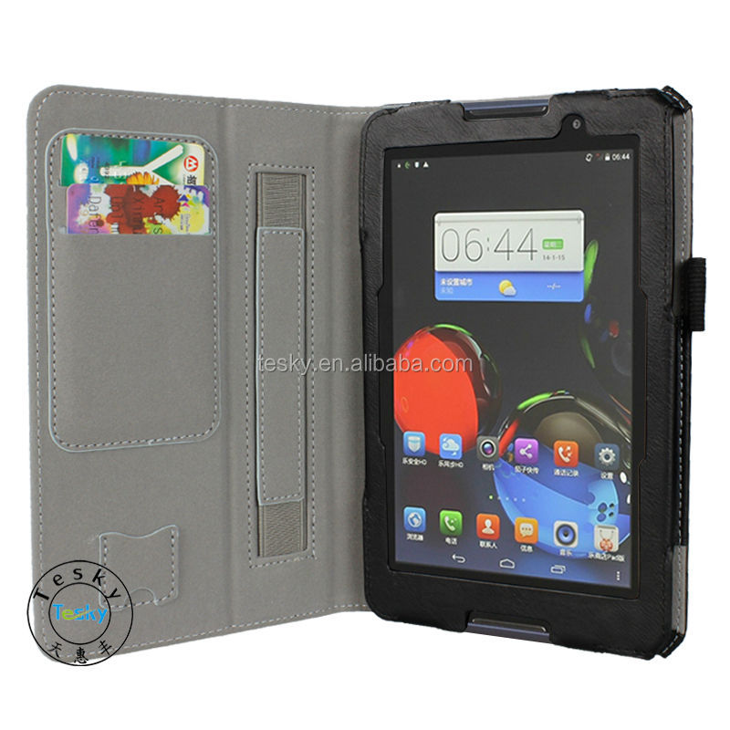 for lenovo a7-50 a3500 cover, fancy pu leathe folio cover r flip case