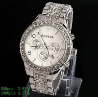 hot sale luxury rhinestone japan movement watch High end quality wholesale stainless steel quartz watch with date