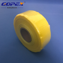 Yellow mesh drywall tape