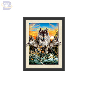 3D Image of Wolf PET Lenticular 3D/5D pictures,3d painting for animals