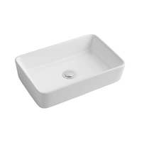 TA-374 Rectangular Ceramic Above Countertop Art Basin Vessel Sink