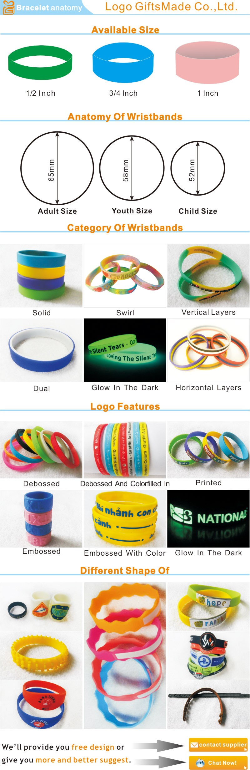China Cheap silicone wristband with High-Quality