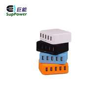 Multiple Usb charger spy carmera 5V 8A Phone wall charger with 5 port slim usb wall charger