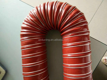 High temperature Silico Duct Double Ply