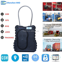 electronic container padlock seal with gps tracking and remote control