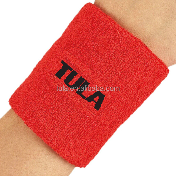 custom cotton terry wristband with LOGO