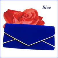 Fashionable envelope faux suede Clutch bag