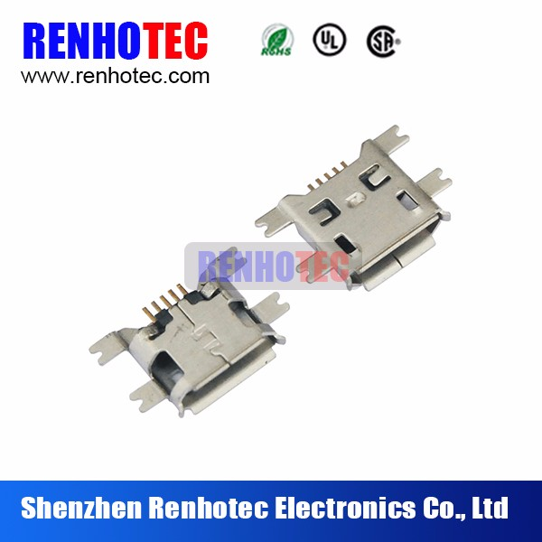 Micro Usb Female 5pin B Type Solder Smt Connector