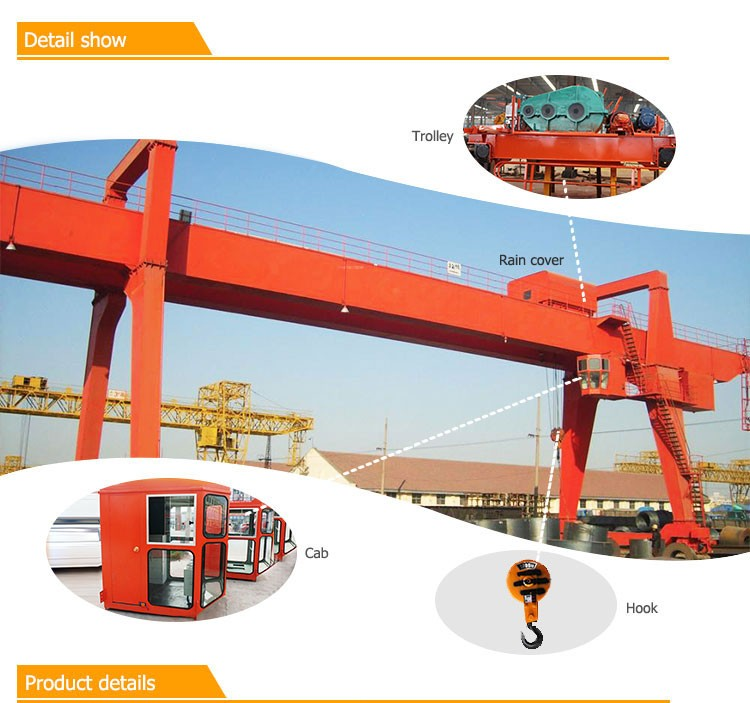 High Quality a-frame Gantry Crane 10 Ton with hook for project