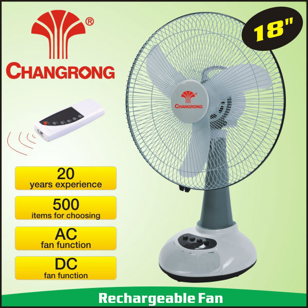 "18"" big size rechargeable cooler fan with battery powered led light table"