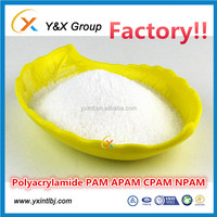 High quality flocculant chemicals used for mining, water treatment, oil drilling YXFLOC