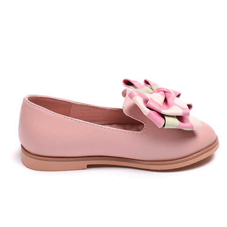 skid proof and beautiful fancy bowknot design for dress kids wholesale shoes