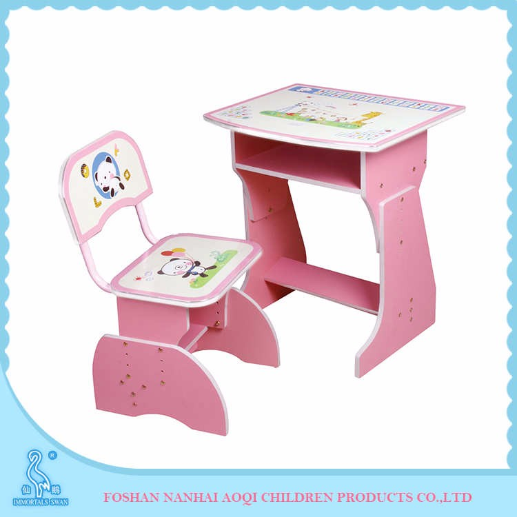 2029 Flakeboard And Pvc Kids Furniture Study Table And Chairs