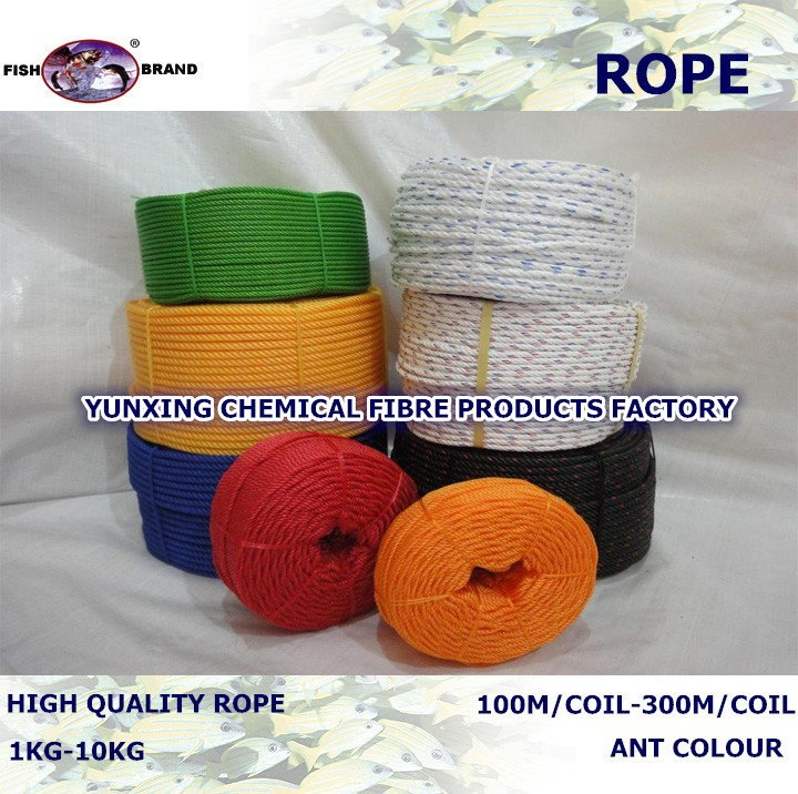 wholesale strong strength 3 strand PE packing/fishing rope