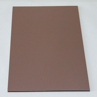 30 optional colors panel 4mm outdoor wall cladding, aluminum sheet 5mm thick, top grade brown bronze aluminum composite panels