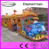 China High quality amusement cheap electric mini train for kids Elephant Train for sale