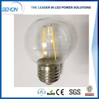 2016 new products G50 led filament bulb 4w 3w 2w E27 E14 led bulb filament