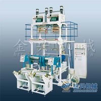 HDPE mLLDPE LLDPE LDPE two-head film manufacturing machine