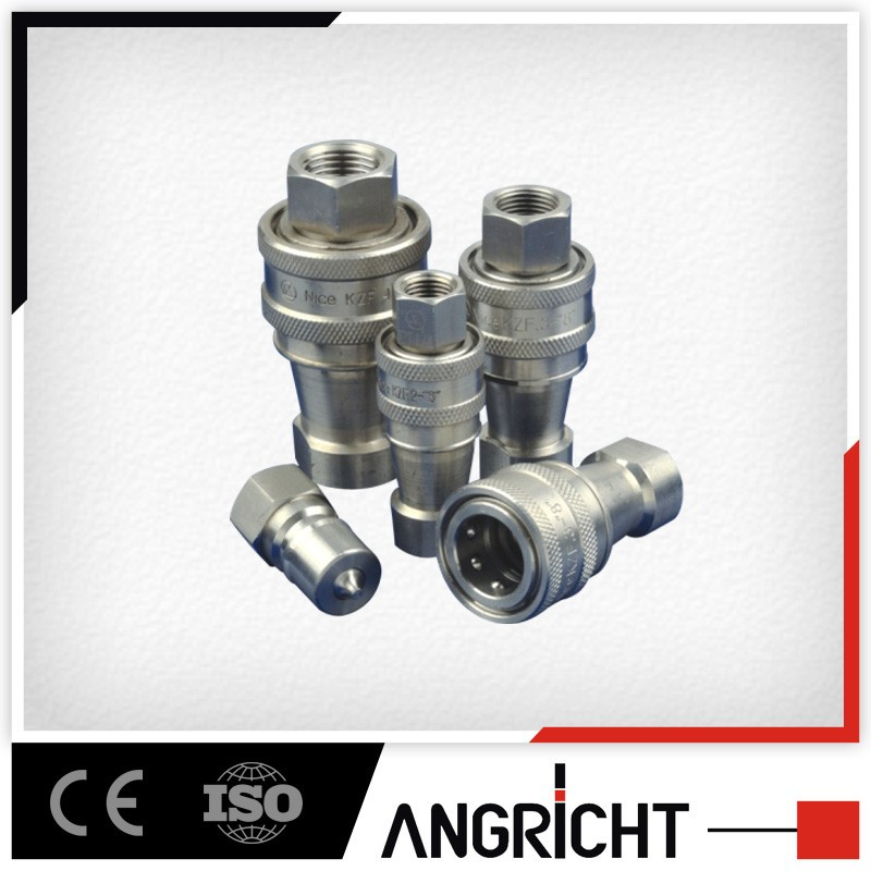 E107 China supplier close type 45 steel hydraulic quick coupling push fit plumbing fittings