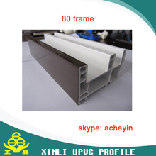 white and pvc color casement/sliding pvc upvc profiles for windows and doors from shandong xinli plastics company