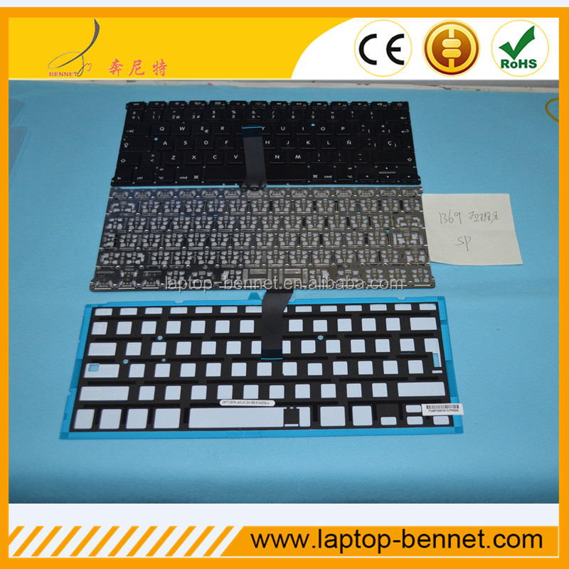 "Genuine keyboard For Apple Macbook Air 13.3"" A1369 A1466 with spanish layout"