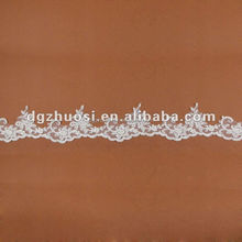 fashion embroidery lace trimming tubular in indian wedding dresses