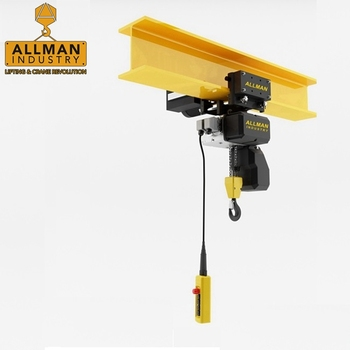 ALLMAN 500kg electric motor lifting light weight KBK crane monorail crane used chain hoist