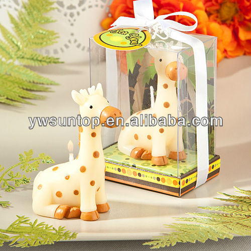 Jungle Critters Collection baby giraffe candles baby birth party gift