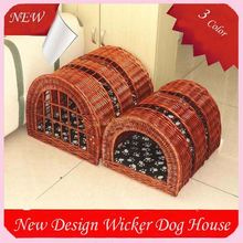 New Style Handmade Wicker Pet Dog Houses Dog Carriers