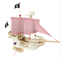 Wooden Pirate Ship Toy for kids