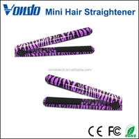 Hot Ceramic Hair Straightener Professional Hairstyling Zebra Flat Irons Styling Tools Mini Size Portable