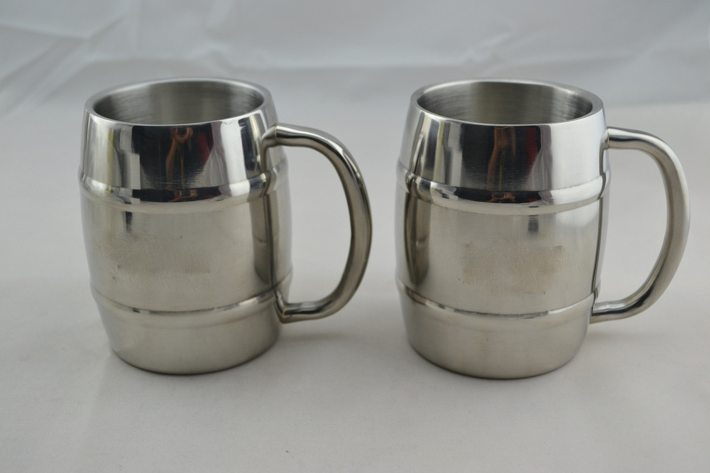 450ml double wall stainless steel thermo beer mug