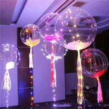 2018 New Year Christmas holiday party 18inch BOBO helium balloons coopper battery string round shape fairy led balloon light