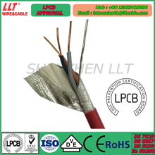 Factory OEM fire rated cable with LPCB approval UK standard cable 2 core 3 core 500m/reel fire resistant cable