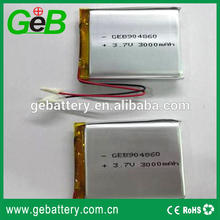 Ultra thin lithium polymer battery 302025 3.7V 110mah for bluetooth headset