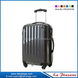 Carry-on ABS+PC travel trolley luggages with lock removable wheels