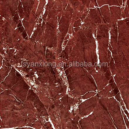 Hot design super gloss red floor tile 18x18