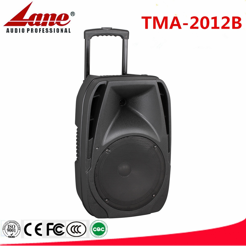 Lane 12 inch active portable trolley PA system with Rechargeable battery,dual wireless VHF microphone and Bluetooth TMA-2012B