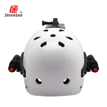 Factory directly sell abs safety helmet with led light headlamp snowmobile