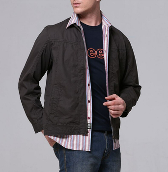 42Gentlemen's long sleeve BUTTON thickens maintains warmth jacket for WINTER season,fom Guangzhou