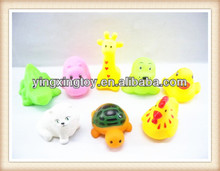 Lovely mini small rubber animal toys for kids