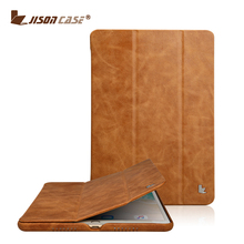 Jisoncase Wholesale Genuine Leather Case for iPad Pro 9.7 Inch Tablet Cover Case with Factory Price