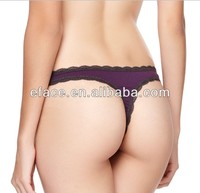 plain soft cotton spandex ladies daily brief g-string