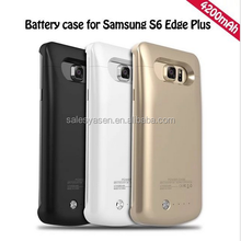 4200mAh Rechargeable External Battery Pack Power Bank Backup battery case for Samsung Galaxy S6 Edge Plus