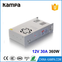 DC12V 30A 360W Switching Power Supply Driver Transformer For LED Light Display CNC 3D Print LCD Monitor CCTV