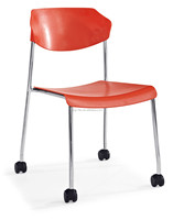 Modern plastic office chair with wheels meeting room chair 6229B