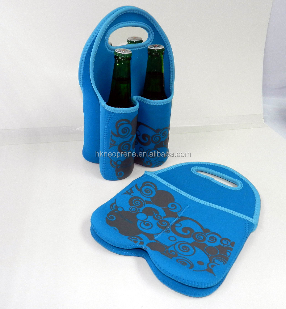 Neoprene 4 Pack Can Beer Bottle Cooler Sling Bag