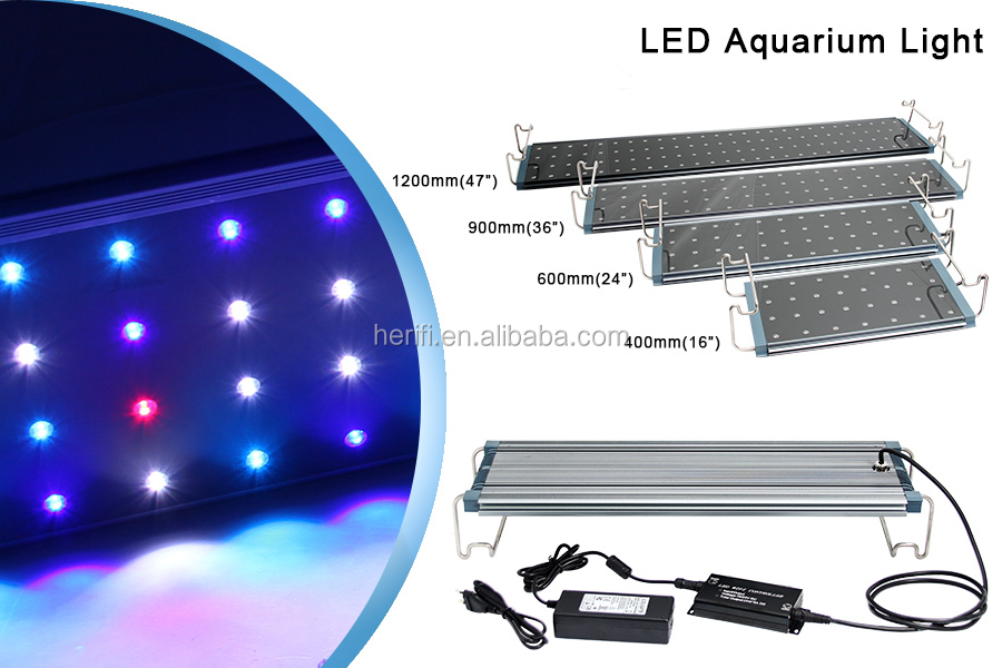 2019 Programmable 1200mm Wifi Coral Reef Meanwell Driver IP65 waterproof Dim 400mm 600mm 900mm Coral Reef Led Aquarium Light