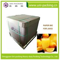 Transport Packaging Disposable Liquid Paper IBC, 1000L liquid shipping boxes paper IBC box