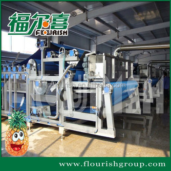 Industrial pineapple juice extractor processing machine